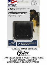 Oster Super Steel(Like Titanium)7F(7FC)BLADE Fit A5,A6,Andis Agc,Wahl Km Clipper - $35.63