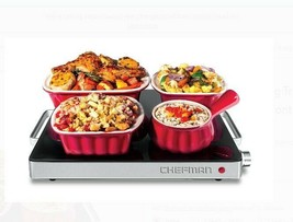 Glass Top Electric Food Warming Tray Party Buffet Server Temp Control St... - $59.39