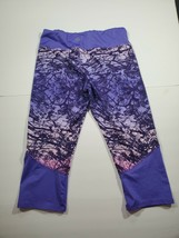 Gaiam Pants Size 16 Girls Purple Printed Mid Rise Capri Bottoms - $11.57