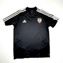 Adidas Men's Soccer Practice T-Shirt Size Medium Black Polyester DP16  - $8.41