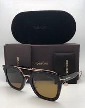 New TOM FORD Sunglasses ALEX-02 TF 541 53E 51-25 145 Tortoise & Gold w/ Brown - $479.99