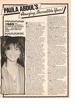 Paula Abdul teen magazine pinup clipping amazing incredible year 1989