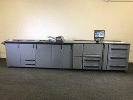 Konica Minolta Bizhub Pro 1200p Printer Loaded Finishing Options Low Meter 6.5 M - $16,335.00