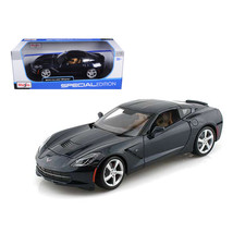 2014 Chevrolet Corvette C7 Stingray Dark Blue 1/18 Diecast Model Car by ... - $50.69