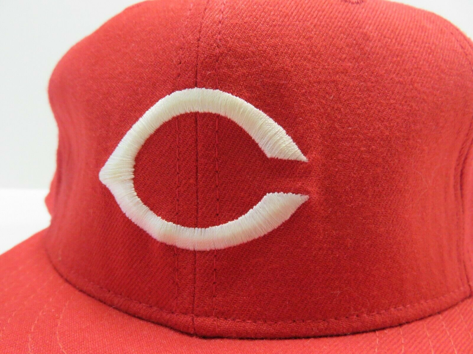 VTG New Era Cincinnati Reds MLB Baseball Fitted Hat Adult Size 7 3/4 Made in USA image 2