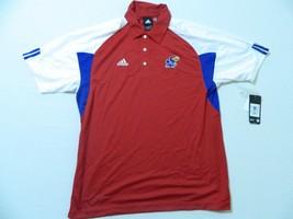 M102 New ADIDAS Kansas Jayhawks Basketball Red Athletic Casual Jersey Shirt S - $24.97