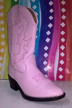 Faded Glory Pink Western Cowgirl Junior Girl's Boots Size 11.5 - $32.71