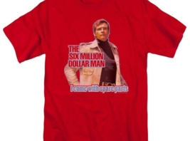 The Six Million Dollar Man Retro 70's Sci-Fi TV series graphic t-shirt NBC534 image 2
