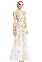 Adrianna Papell Ivory Bead Sleeveless Formal Gown, Ivory, 12 - $217.79