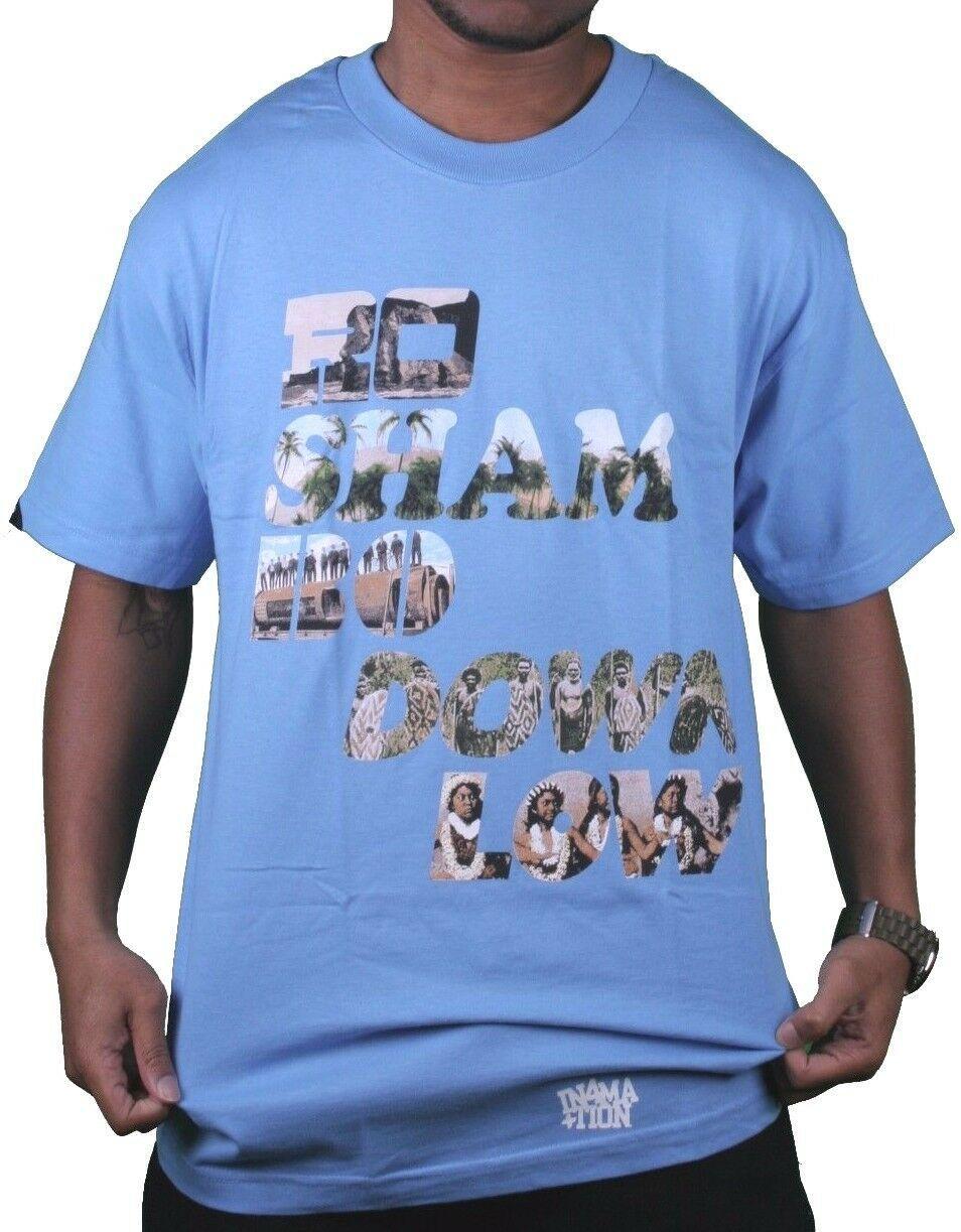 In4mation Hawaii Roshambo Bas Rock Papier Ciseaux T-Shirt USA Fabriqué Bleu Nwt