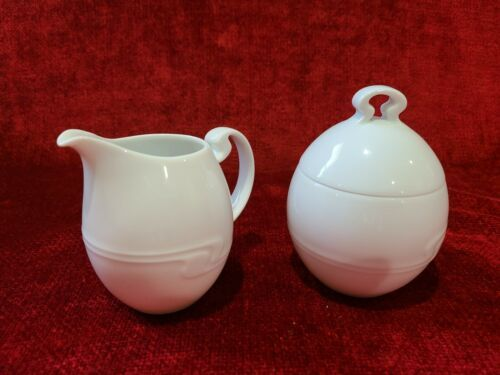 Primary image for Rosenthal Asymmetria White Sugar and Creamer Set