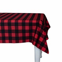 Wemay Cotton Buffalo Check Plaid Rectangle Tablecloth for Family Dinners... - $29.72
