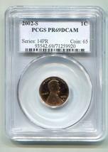 2002-S LINCOLN CENT PENNY PCGS PR69 DCAM DEEP CAMEO NICE ORIGINAL COIN B... - $14.95