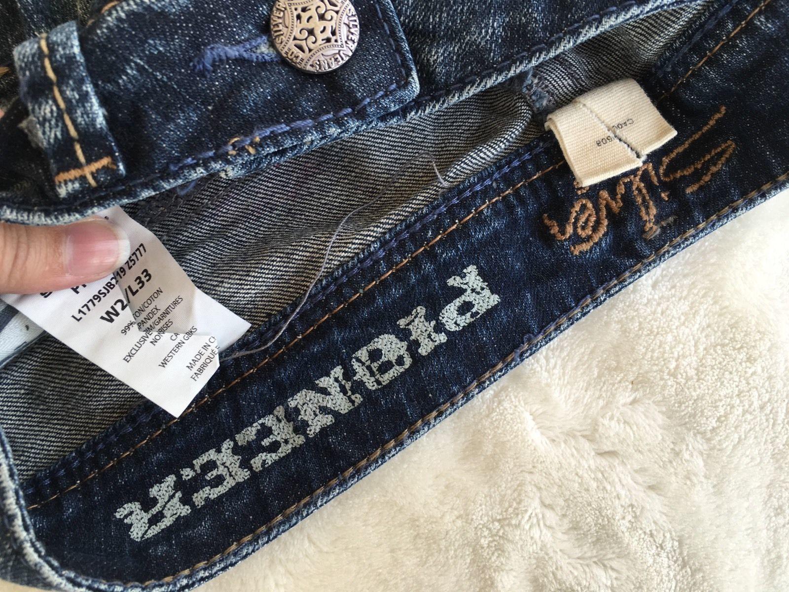SILVER Jeans Sale Low Rise Pioneer Flap Pocket Denim Stretch Jean Mid Shorts 26