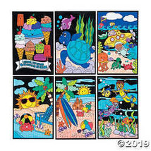 Color Your Own Fuzzy Summer Poster Assortment - $35.99
