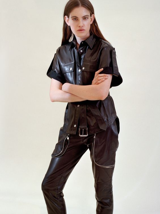 WOMEN BIKER MOTORCYCLE CASUAL SLIM FIT RIDER REAL GENUINE  LEATHER JACKET-A33