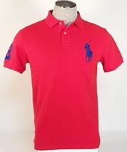 Ralph Lauren Custom Fit Red Short Sleeve Polo Shirt Big Blue Polo Pony M... - $74.99
