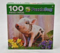 Little Pink Piglet NEW 100 Piece Puzzle CrayZArt Puzzlebug - $13.81