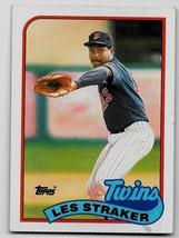 1989 Topps Baseball Card, #101, Les Straker, Minnesota Twins - $0.99