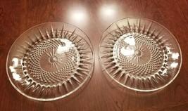 Arcoroc Diamant Sunburst Side Plates: Set of 2, Salad, Dessert Plates, 7... - $13.54