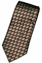 Kenneth Cole New York Men's Silk Neck Tie Burgundy Red Silver Gray Black... - $11.87