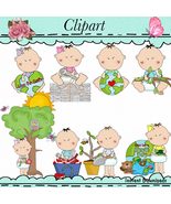 Baby Face Earth Day Clip Art Recycle Love The Earth - $1.35
