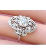 ANTIQUE ART DECO 1.27ct OLD MINE DIAMOND PLATINUM COCKTAIL ENGAGEMENT RI... - $7,127.01