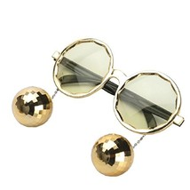 Ponce Fashion Shiny Hanging Disco Ball Glasses Creative Sunglasses Birth... - $15.12