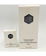 Vintage Ombre Rose 3 oz Cologne New Sealed and .16 Parfum Lot Brosseau FR2 - $59.95