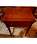 Solid Cherry Late 1800's Work Table / Nightstand - $399.00