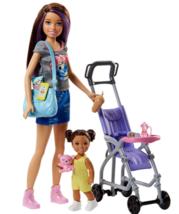 Barbie Babysitting Playset w/ Skipper Baby Doll Bouncy Stroller & Access... - $38.95