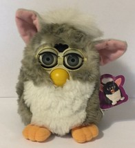 Furby 1998 Tiger Electronics Gray White With Pink Ears Tested and Working - $39.59