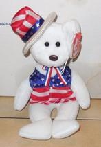 """2003 Ty Sam Patriotic Beanie Bear 6"""" plush toy - $7.25"""