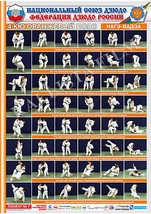 Posters JUDO. Orange  belt  1 poster.The technique of judo.NAGE WAZA. - $15.00