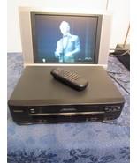 Symphonic SV 211E VHS VCR Cassette Player / Recorder Remote Manual Tested  - $34.66