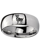 8mm Aries Zodiac Horoscope Mirror Dome Tungsten Carbide Mens Ring Person... - $43.99