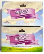 Melaleuca MELASOFT Fabric Softener Clean Cotton Dryer Sheets 2-Pack 20... - $24.99