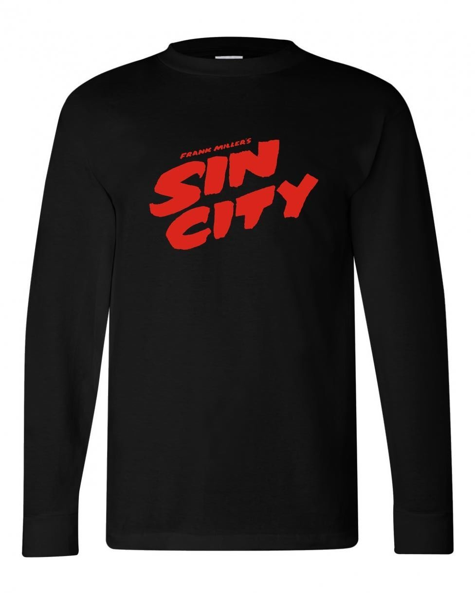 Sin city long sleeve black graphic tshirt movie comics for sale online
