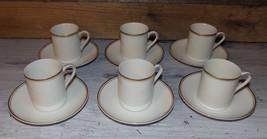 Vintage Demitasse Cups Saucers 12pc Set Tea Espresso Set White Gold Trim... - $30.50