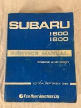 1980 Subaru Shop Manual 1600 1800 Original Repair Service Book OEM September - $40.58