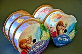 "Frozen Ribbon 45 feet of New Spools Disney Anna Elsa Olaf 7/8"" x 3  & 1.... - $5.93"