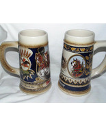 Budweiser W Germany Staffel Stonewear Clydesdale & Horse Head Steins lot... - $20.99