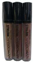 3 NYX Cosmic Metals Lip Cream Assortment -CMLC13 Celestrial /CMLC14/CMLC16 - $17.72