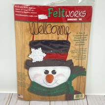 Dimensions Feltworks Snow Buddy Welcome Kit New Snowman Christmas 8110 New - $12.10