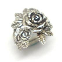 Silver Flower Rose Ring image 5