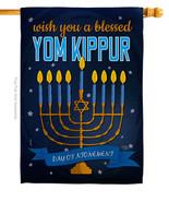Yom Kippur - Impressions Decorative House Flag H114226-BO - $36.97
