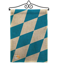 Bavaria Burlap - Impressions Decorative Metal Wall Hanger Garden Flag Se... - $33.97