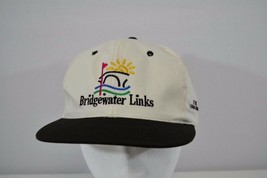 BridgeWater Links At London Bridge White/Black Baseball Cap Snap Back - $15.83