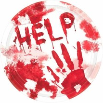 "Asylum Bloody Good Time 10.5"" 18 Ct Dinner Plates Halloween - $11.99"