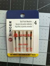 SINGER Sewing Machine Needles Ball Point 90/14 4 pcs per card Mask Quilt - $9.99
